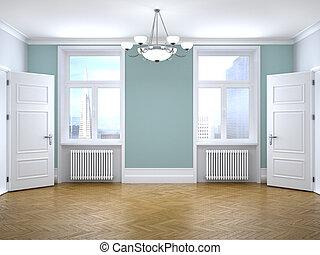 interior of an empty room. 3d illustration
