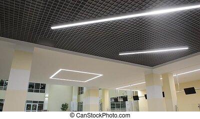 interior of an interesting futuristic new building
