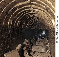 Interior of an Old Pottery Kiln - Inside view of the chamber...