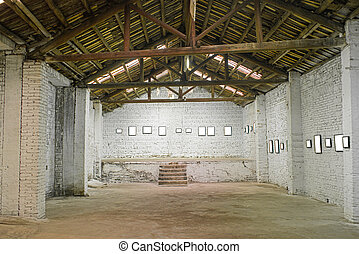 interior of an old warehouse