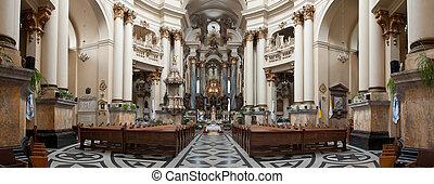 Interior of ancient church