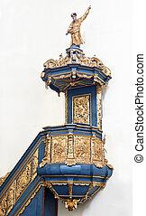Interior of baroque church. - Sights of Poland. Furnishings...