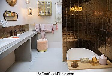 interior of bath room
