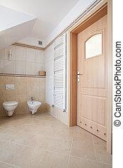 Interior of bathroom - Interior of bright bathroom, wc and...