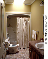 Interior of Bathroom - Interior of small bathroom