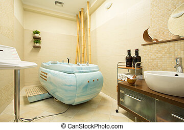 Interior of beauty parlor in modern spa