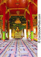 Interior of Buddhism church