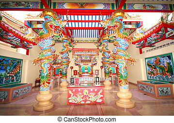 Interior of Chinese Temple