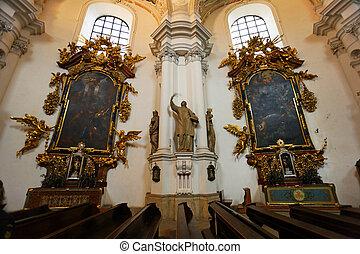 Interior of church in Poland