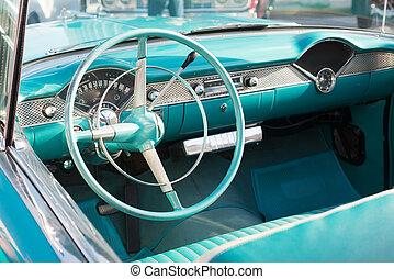 Interior of Classic Car