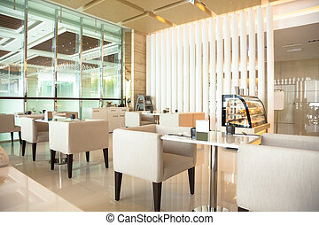 Interior of coffee restaurant