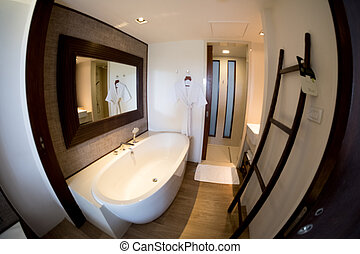 Interior of comfortable bathroom