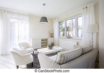 Interior of comfy living room - Interior of comfy and bright...