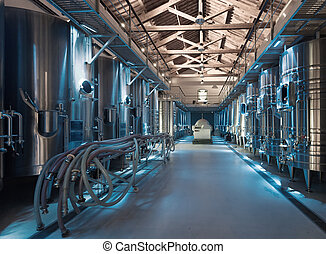 Interior  of contemporary winery