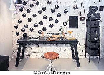 interior of creative home studio