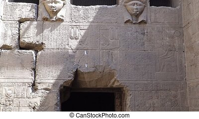 Interior of Dendera temple or Temple of Hathor. Egypt....