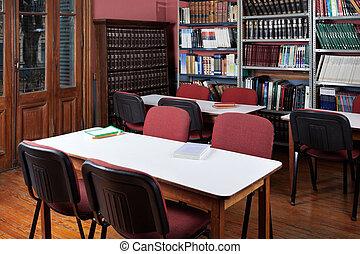Interior Of Empty Library
