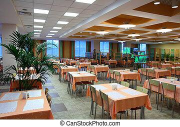 restaurant dinning hall - interior of empty restaurant...