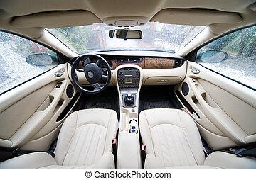 interior of exclusive car - interior of exclusive limousine...