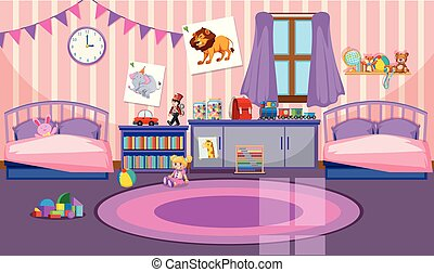 Interior of girls room