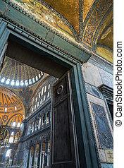 Interior of Hagia Sophia in Istanbul, Turkey - greatest monument