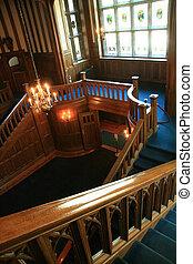 Interior of Hatley Castle, Victoria, BC, Canada - Interior...