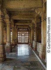 Interior of historic Tomb of Mehmud Begada, Sultan of Gujarat at Sarkhej Roza mosque