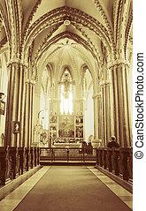 Interior of Inner City Parish Church in Budapest, Hungary
