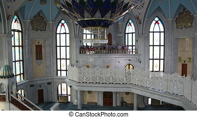 interior of kul sharif mosque - kazan russia