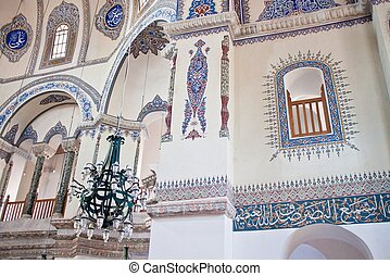 Interior of little Hagia Sofia mosque in Istanbul