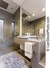 Interior of luxurious a bathroom