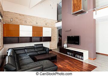 Interior of luxurious apartment