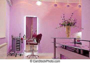 interior of luxury hair salon
