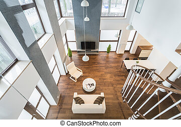 Interior of luxury residence - view from above