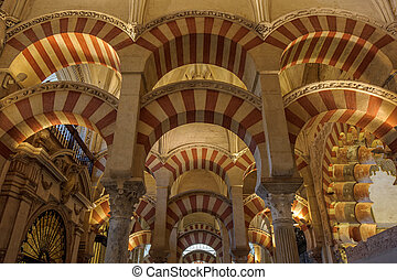 Interior of Mezquita-Catedral, Cordoba, Spain