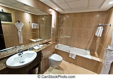 Interior of modern apartment - bathroom