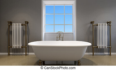 interior of modern bathroom . 3d rendering