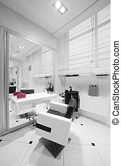interior of modern beauty salon - brand new interior of...