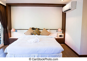 Interior of modern comfortable hotel room