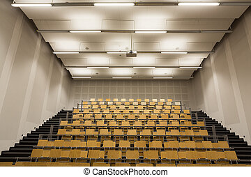 interior of modern empty conference hall