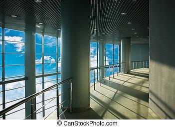 hi-tech office building - Interior of modern hi-tech office...