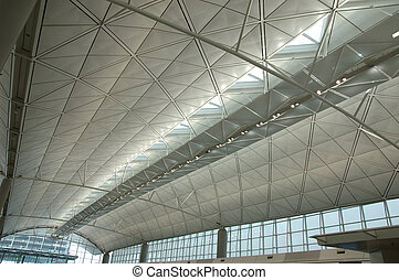 Interior of modern international airport
