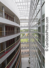 interior of modern office building