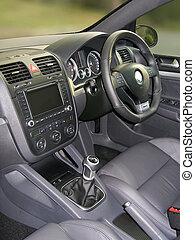 Interior of modern sports car