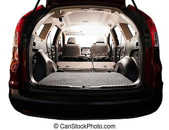 Interior of modern SUV car