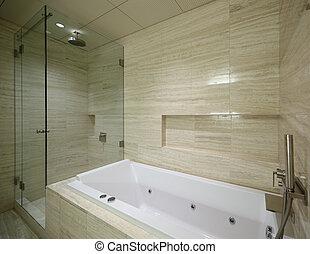 interior of modern toilet in european style