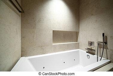 interior of modern toilet in european style - beautiful ...
