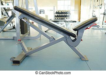 Interior of new modern gym