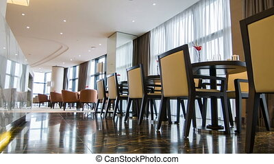 Interior of nice meeting room in hotel