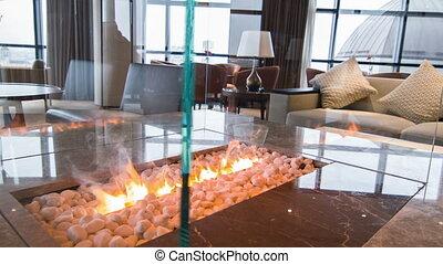 Interior of nice meeting room in hotel